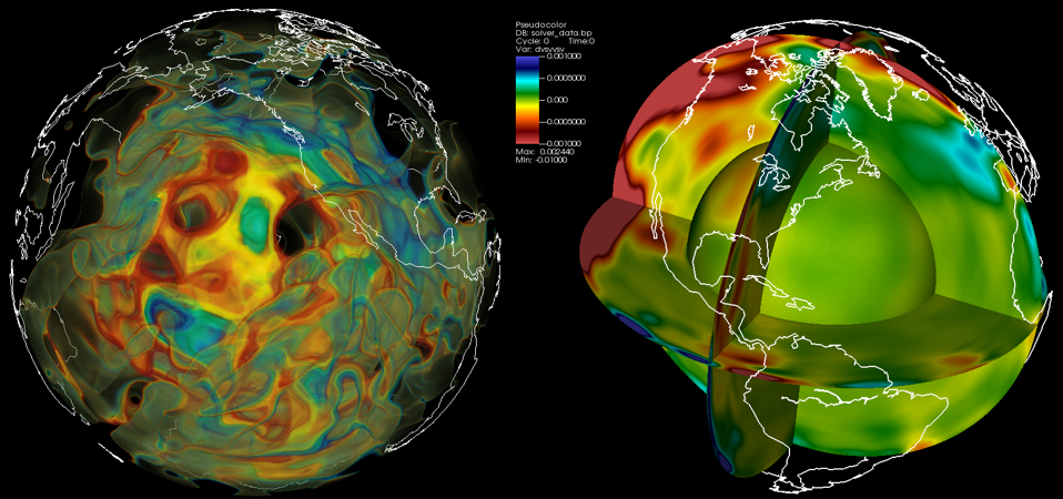 Visualization of data from SpecFM3D. Simulation by J. Tromp (Princeton)
