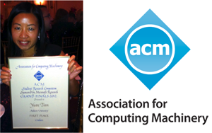 Yuan Tian receives first place in prestigious 2012 ACM Student Research Competition for Smart I/O software